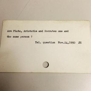 """""""Platon, Aristotel și Socrate sunt una și aceeași persoană?"""""""