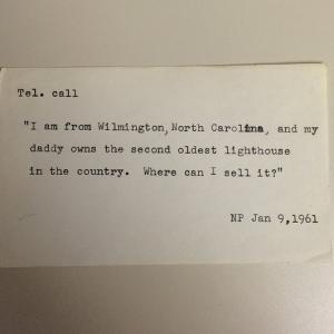 """""""Sunt din Wilmington, Carolina de Nord, și tatăl meu deține al doilea cel mai vechi far din țară. Unde îl pot vinde?"""""""